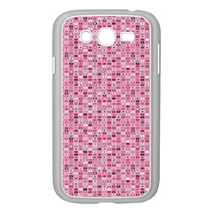 Abstract Pink Squares Samsung Galaxy Grand Duos I9082 Case (white)