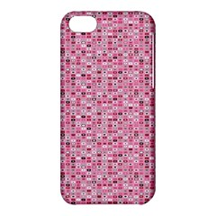 Abstract Pink Squares Apple Iphone 5c Hardshell Case