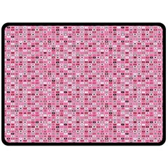 Abstract Pink Squares Double Sided Fleece Blanket (large)