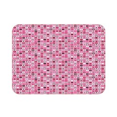 Abstract Pink Squares Double Sided Flano Blanket (mini)