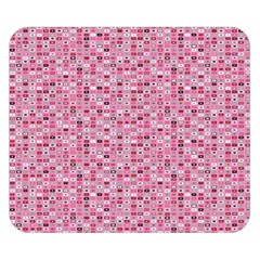 Abstract Pink Squares Double Sided Flano Blanket (small)  by BangZart