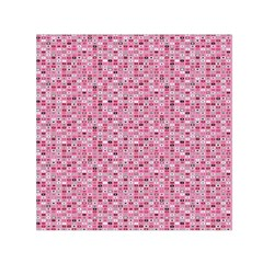 Abstract Pink Squares Small Satin Scarf (square) by BangZart