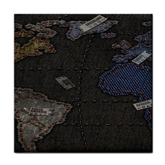 World Map Tile Coasters by BangZart