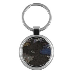 World Map Key Chains (round)