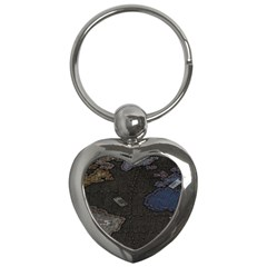 World Map Key Chains (heart)