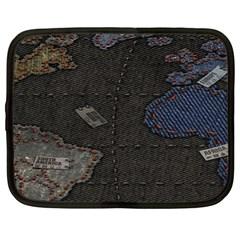 World Map Netbook Case (xl)
