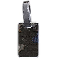 World Map Luggage Tags (one Side)