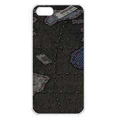 World Map Apple Iphone 5 Seamless Case (white) by BangZart