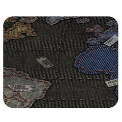 World Map Double Sided Flano Blanket (medium)  by BangZart