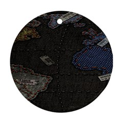World Map Ornament (round)