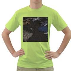 World Map Green T Shirt