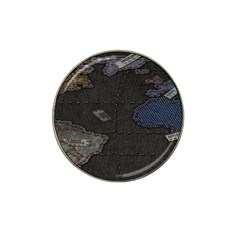 World Map Hat Clip Ball Marker (4 Pack)
