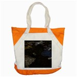 World Map Accent Tote Bag Front