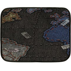 World Map Fleece Blanket (mini) by BangZart