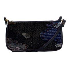 World Map Shoulder Clutch Bags by BangZart