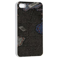 World Map Apple Iphone 4/4s Seamless Case (white) by BangZart