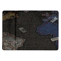 World Map Samsung Galaxy Tab 10 1  P7500 Flip Case