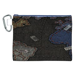 World Map Canvas Cosmetic Bag (xxl) by BangZart