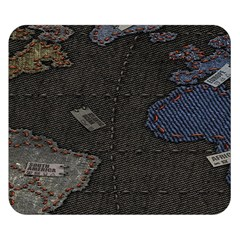 World Map Double Sided Flano Blanket (small)