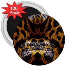 Textures Snake Skin Patterns 3  Magnets (100 Pack)