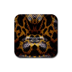 Textures Snake Skin Patterns Rubber Square Coaster (4 Pack)
