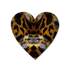Textures Snake Skin Patterns Heart Magnet
