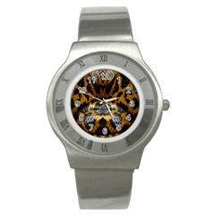 Textures Snake Skin Patterns Stainless Steel Watch by BangZart