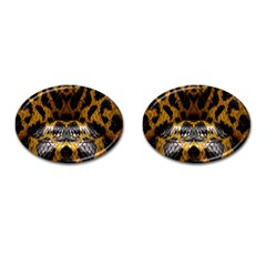 Textures Snake Skin Patterns Cufflinks (oval) by BangZart