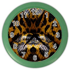 Textures Snake Skin Patterns Color Wall Clocks
