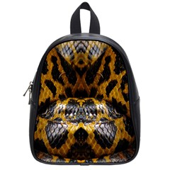 Textures Snake Skin Patterns School Bags (small)  by BangZart