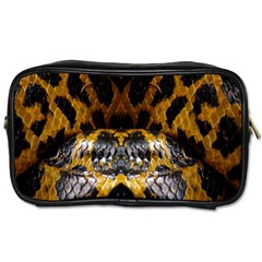 Textures Snake Skin Patterns Toiletries Bags 2 Side by BangZart