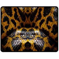 Textures Snake Skin Patterns Fleece Blanket (medium)