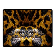Textures Snake Skin Patterns Fleece Blanket (small)
