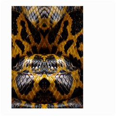 Textures Snake Skin Patterns Large Garden Flag (two Sides) by BangZart