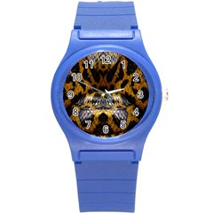 Textures Snake Skin Patterns Round Plastic Sport Watch (s)