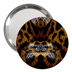Textures Snake Skin Patterns 3  Handbag Mirrors