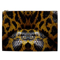 Textures Snake Skin Patterns Cosmetic Bag (xxl)  by BangZart
