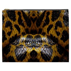 Textures Snake Skin Patterns Cosmetic Bag (xxxl)  by BangZart
