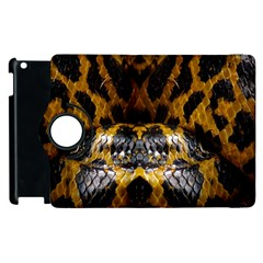 Textures Snake Skin Patterns Apple Ipad 2 Flip 360 Case by BangZart