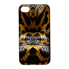 Textures Snake Skin Patterns Apple Iphone 4/4s Hardshell Case With Stand by BangZart