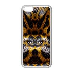 Textures Snake Skin Patterns Apple Iphone 5c Seamless Case (white)