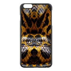 Textures Snake Skin Patterns Apple Iphone 6 Plus/6s Plus Black Enamel Case by BangZart