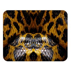 Textures Snake Skin Patterns Double Sided Flano Blanket (large)