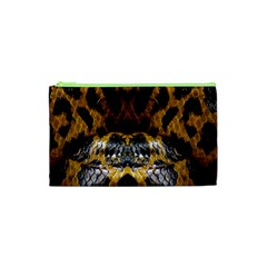 Textures Snake Skin Patterns Cosmetic Bag (xs) by BangZart