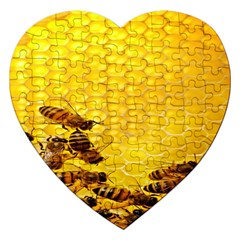 Sweden Honey Jigsaw Puzzle (heart) by BangZart