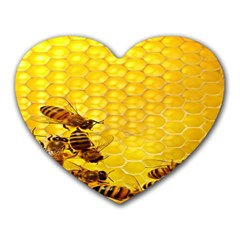 Sweden Honey Heart Mousepads by BangZart