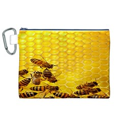 Sweden Honey Canvas Cosmetic Bag (xl) by BangZart