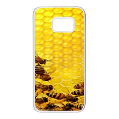Sweden Honey Samsung Galaxy S7 White Seamless Case by BangZart