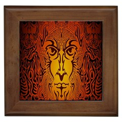 Lion Man Tribal Framed Tiles
