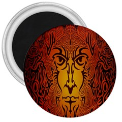 Lion Man Tribal 3  Magnets